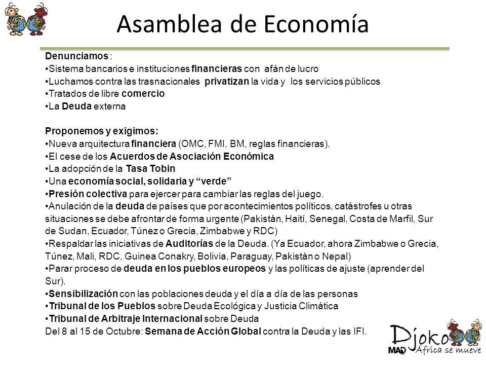 Asamblea de Economía Denunciamos :