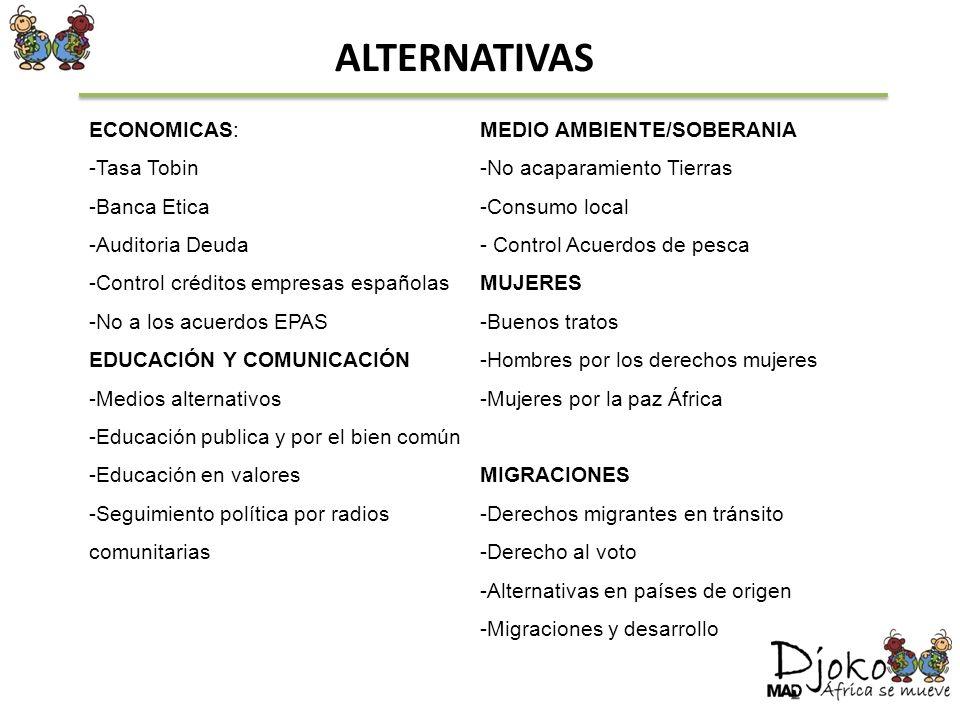 ALTERNATIVAS ECONOMICAS: MEDIO AMBIENTE/SOBERANIA Tasa Tobin