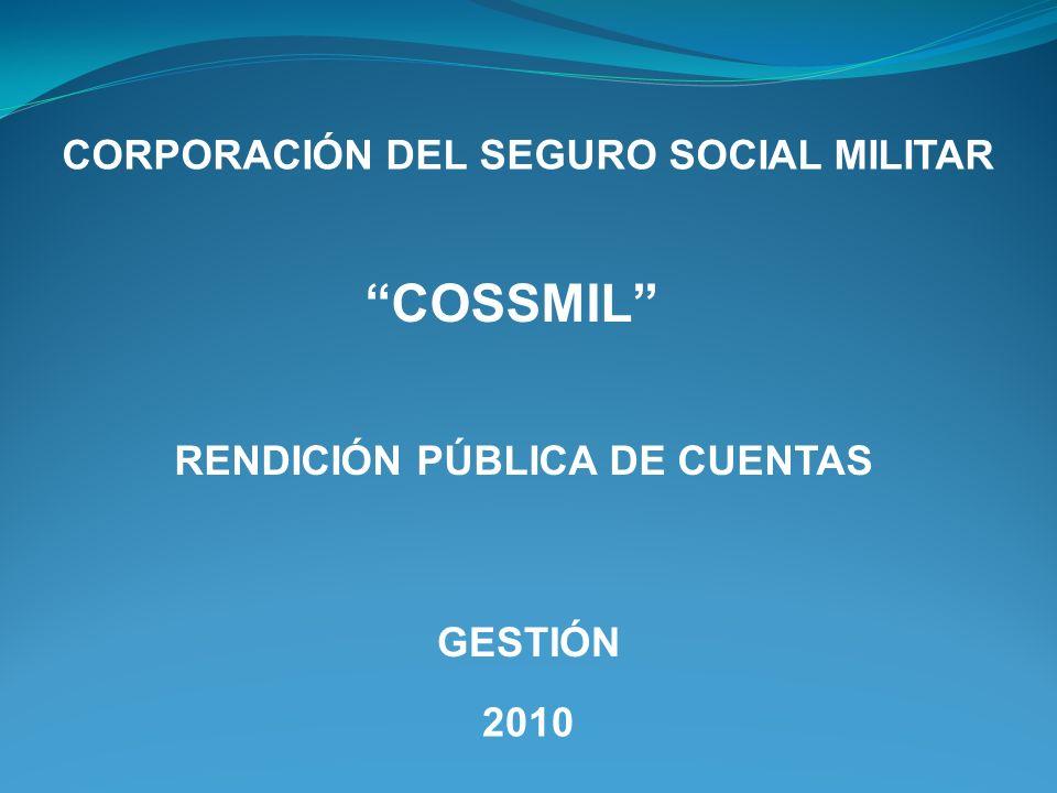 CORPORACIÓN DEL SEGURO SOCIAL MILITAR RENDICIÓN PÚBLICA DE CUENTAS