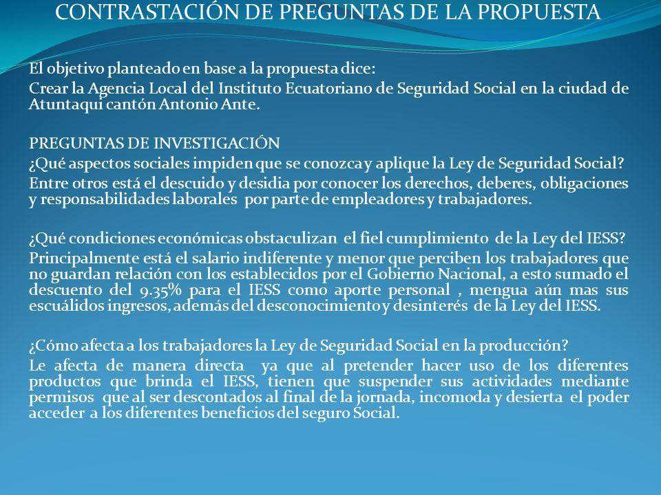 CONTRASTACIÓN DE PREGUNTAS DE LA PROPUESTA