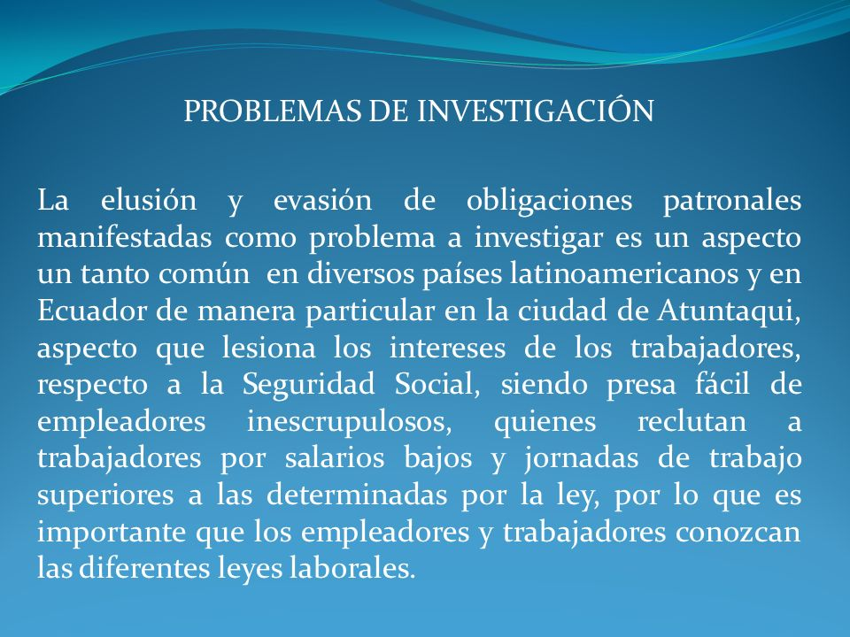 PROBLEMAS DE INVESTIGACIÓN