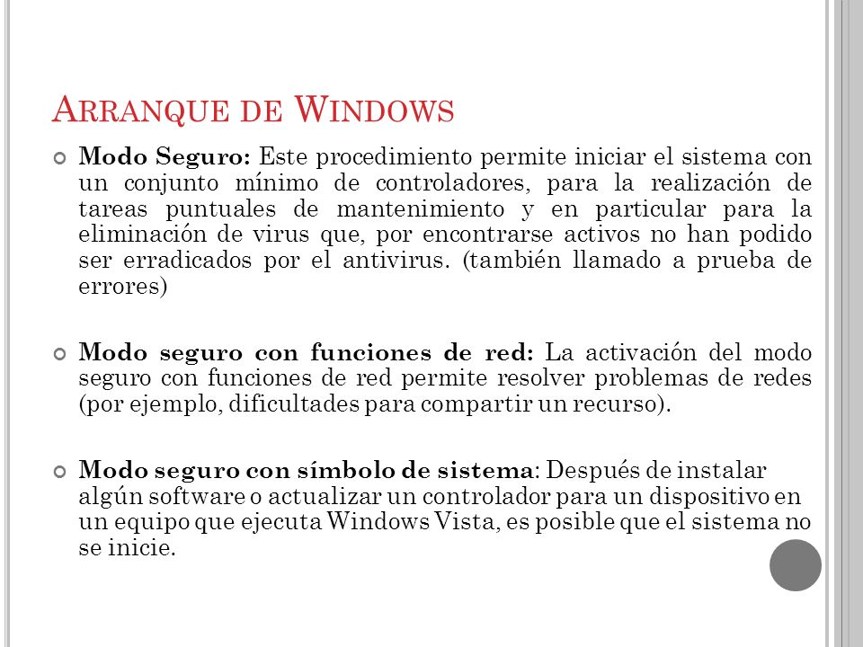 Arranque de Windows