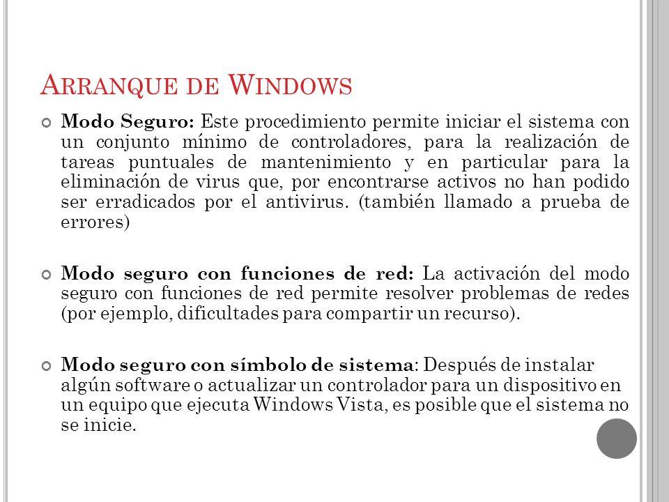 Arranque de Windows