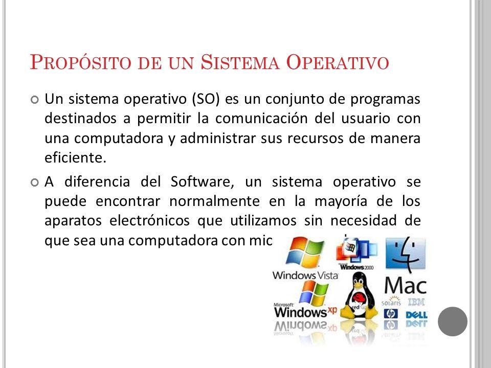 Propósito de un Sistema Operativo