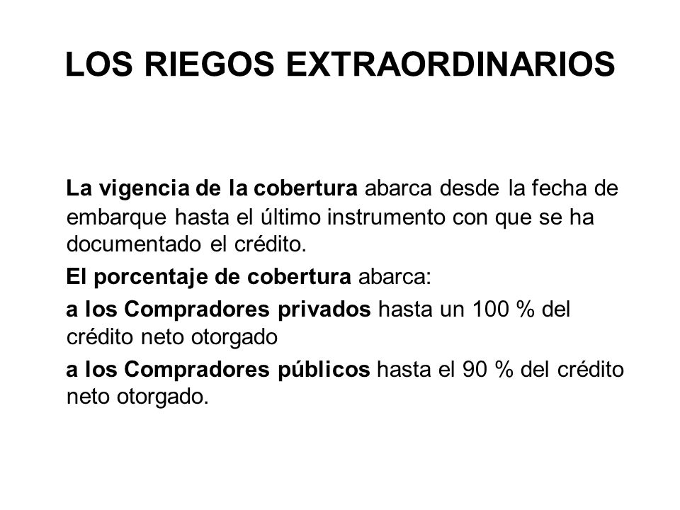 LOS RIEGOS EXTRAORDINARIOS