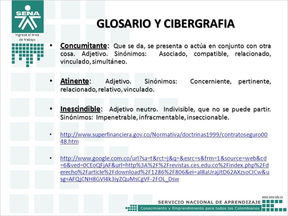 GLOSARIO Y CIBERGRAFIA