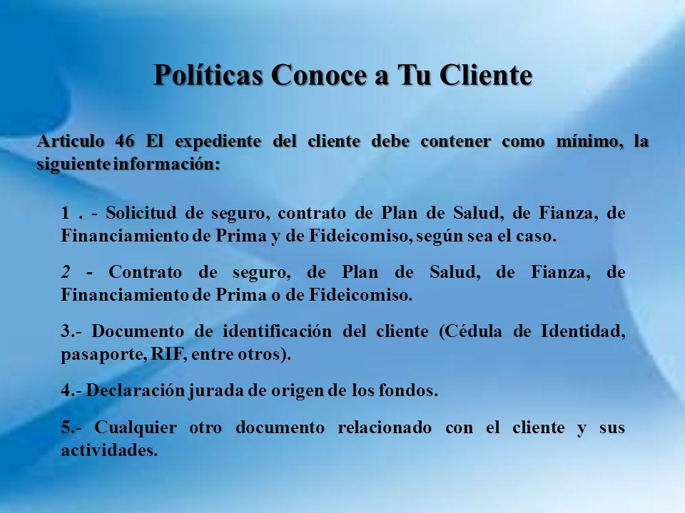 Políticas Conoce a Tu Cliente
