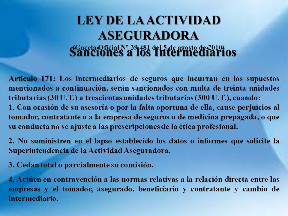 LEY DE LA ACTIVIDAD ASEGURADORA