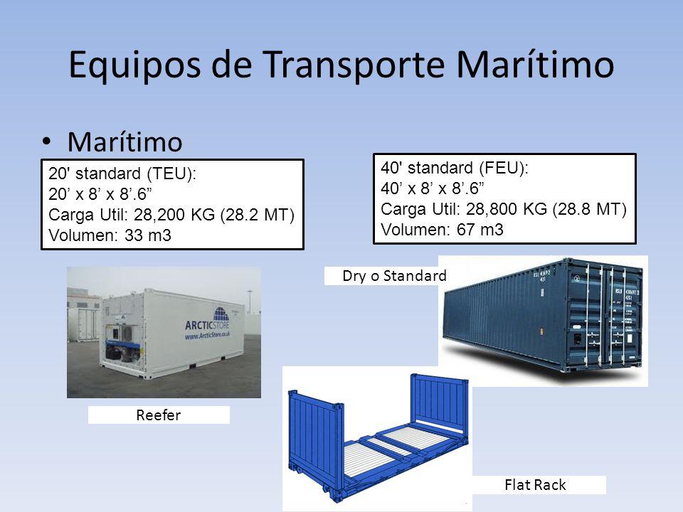 Equipos de Transporte Marítimo