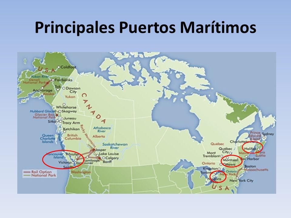 Principales Puertos Marítimos
