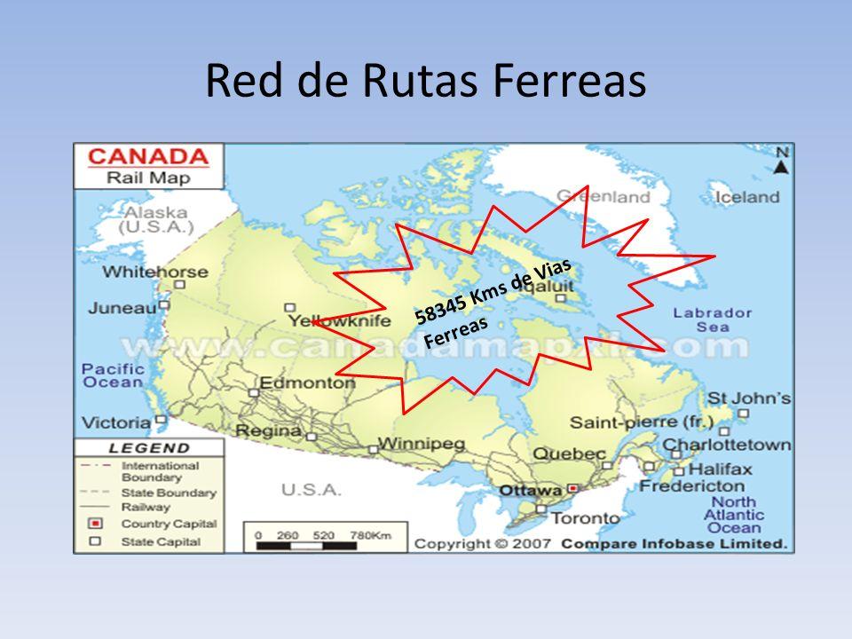 Red de Rutas Ferreas 58345 Kms de Vias Ferreas