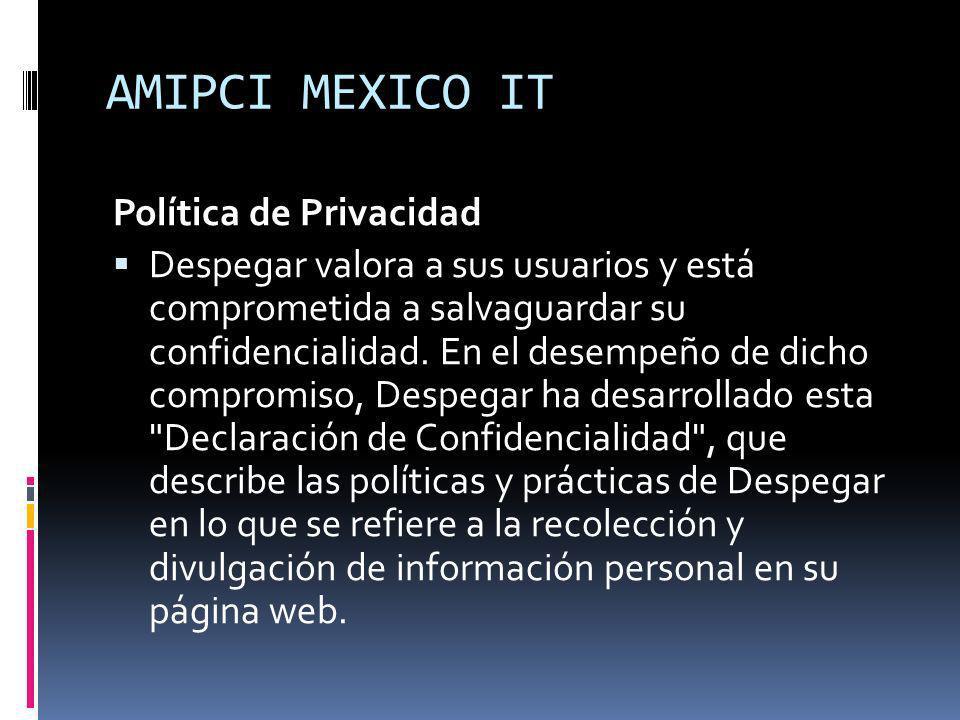 AMIPCI MEXICO IT Política de Privacidad