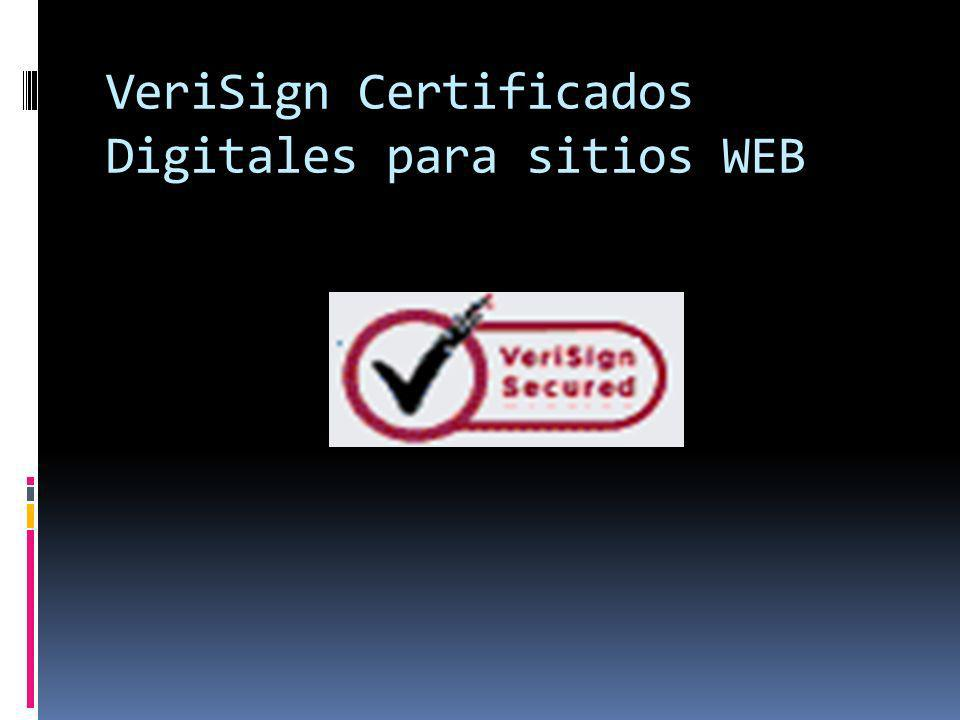 VeriSign Certificados Digitales para sitios WEB