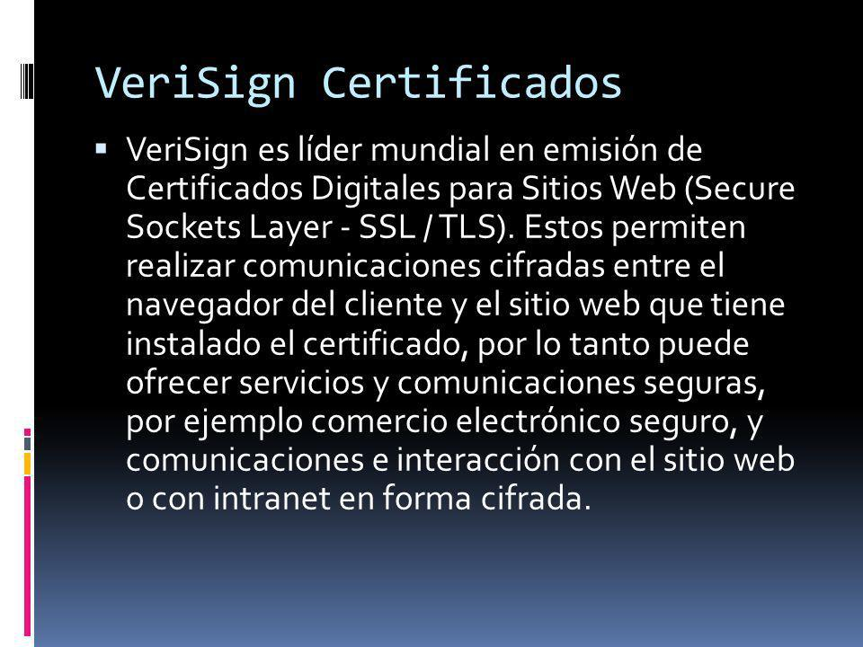 VeriSign Certificados