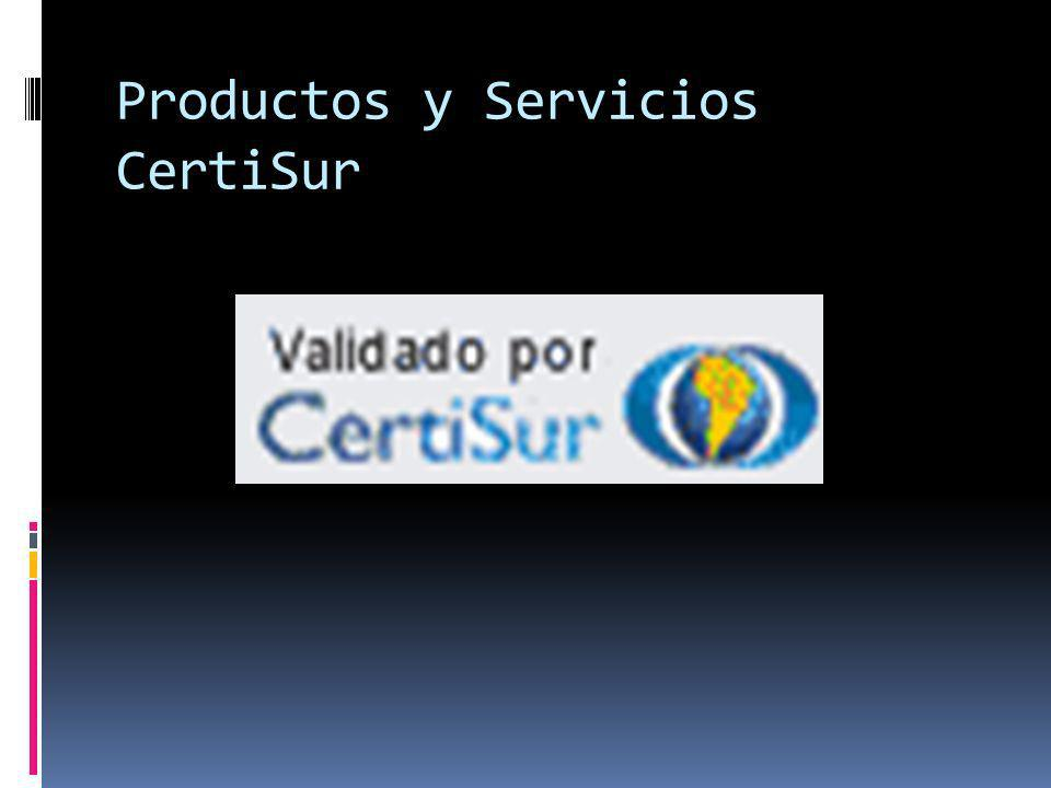 Productos y Servicios CertiSur
