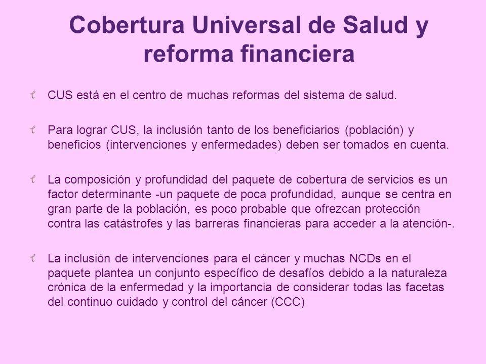 Cobertura Universal de Salud y reforma financiera