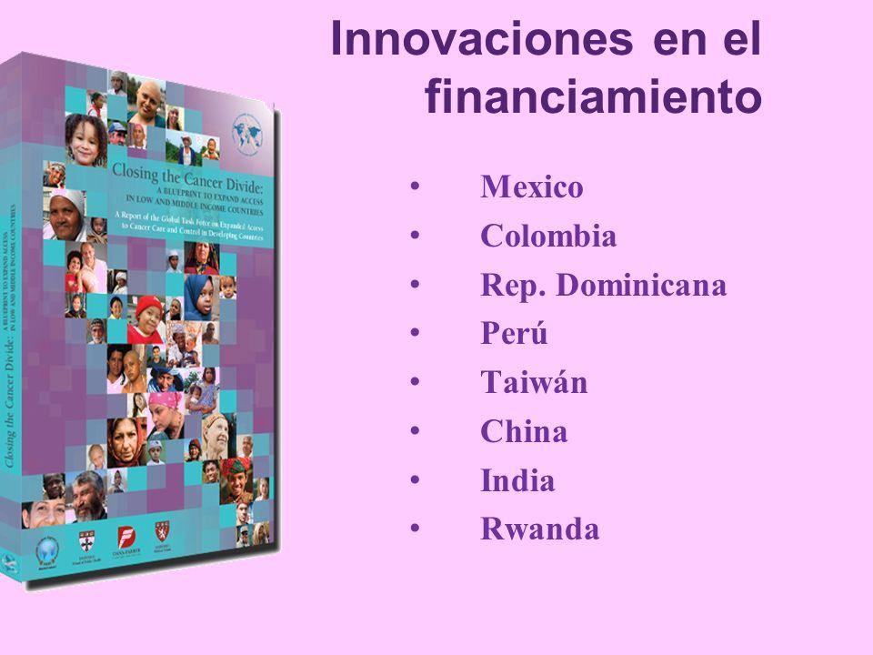 Innovaciones en el financiamiento