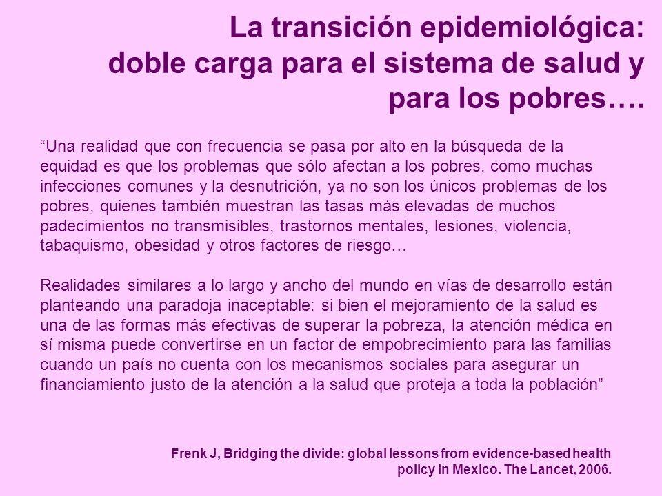 La transición epidemiológica: