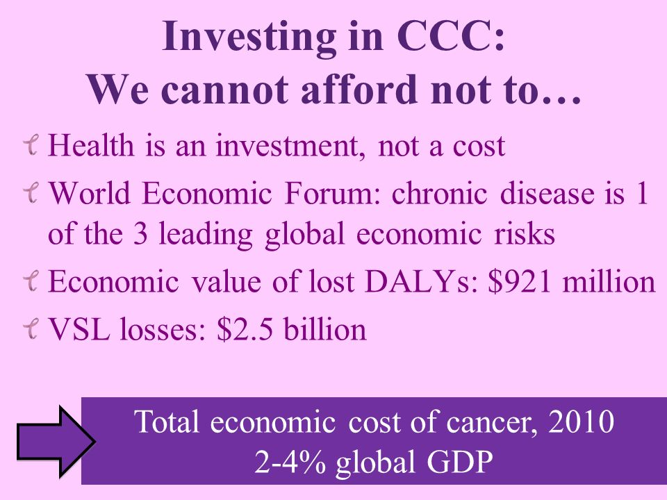 Investing in CCC: We cannot afford not to…