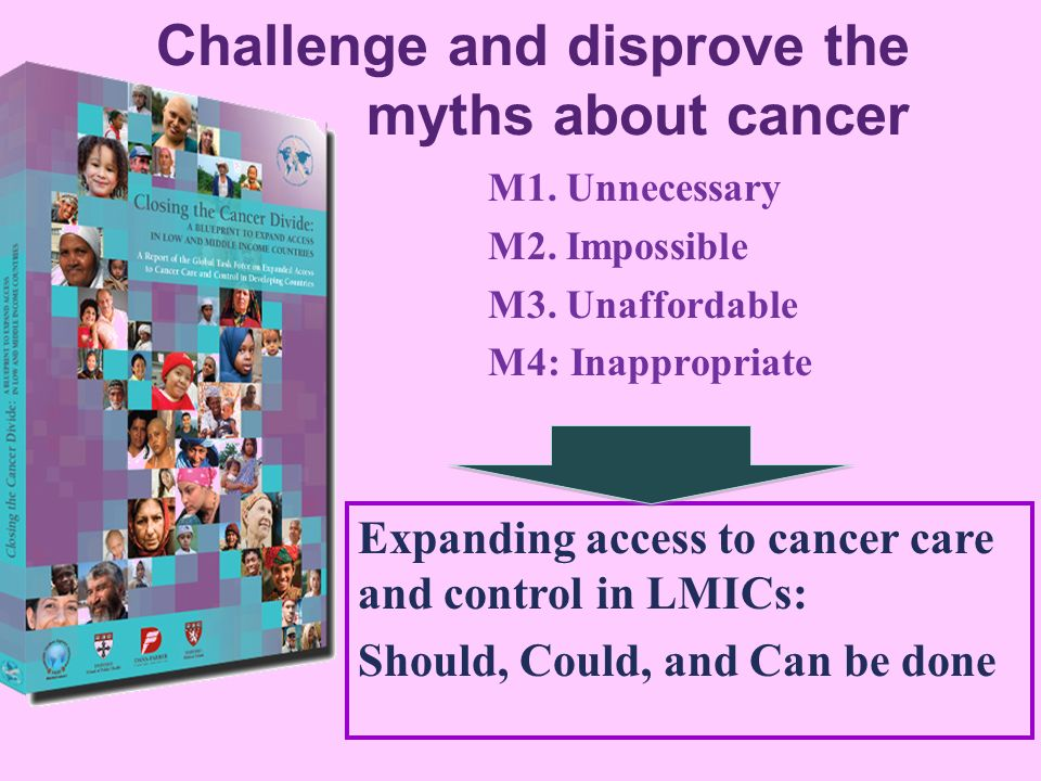 Challenge and disprove the myths about cancer