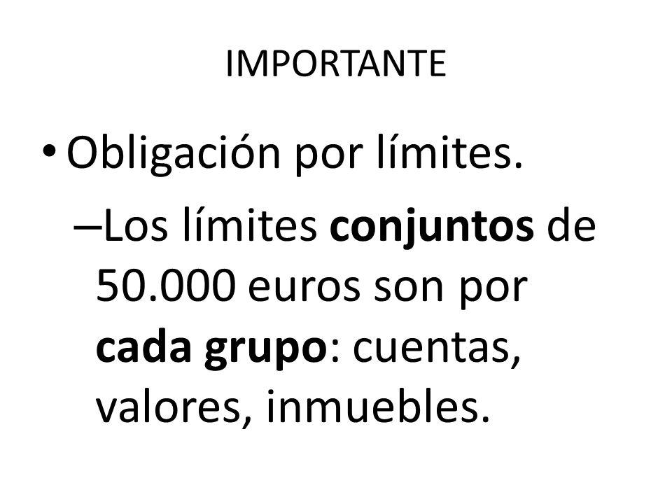 Obligación por límites.