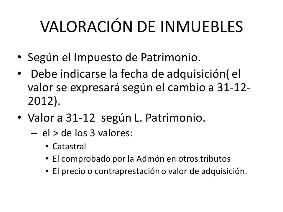 VALORACIÓN DE INMUEBLES