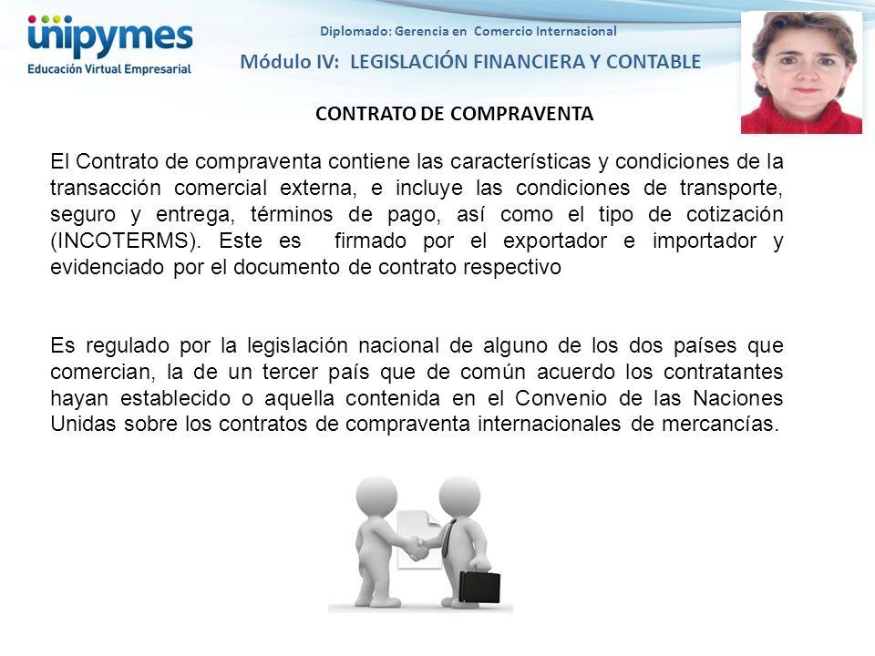 Diplomado: Gerencia en Comercio Internacional CONTRATO DE COMPRAVENTA