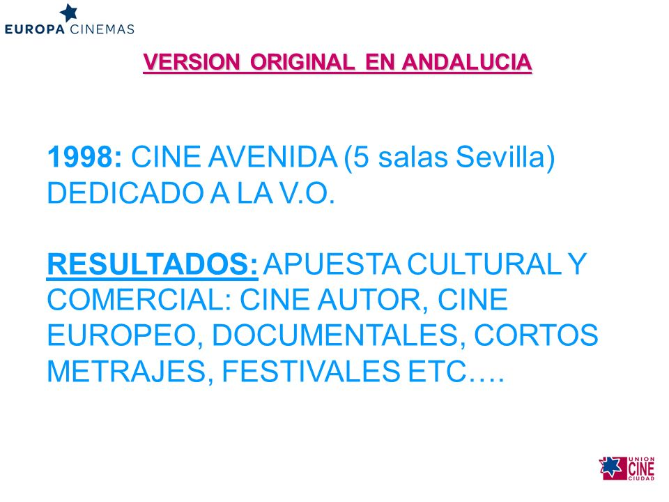VERSION ORIGINAL EN ANDALUCIA