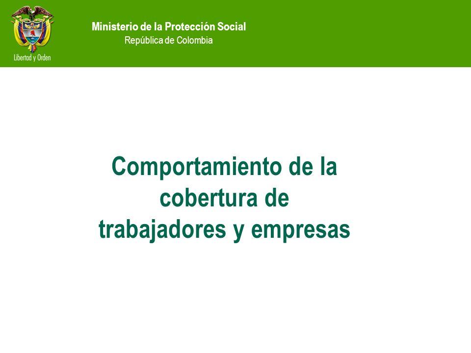 Comportamiento de la cobertura de trabajadores y empresas