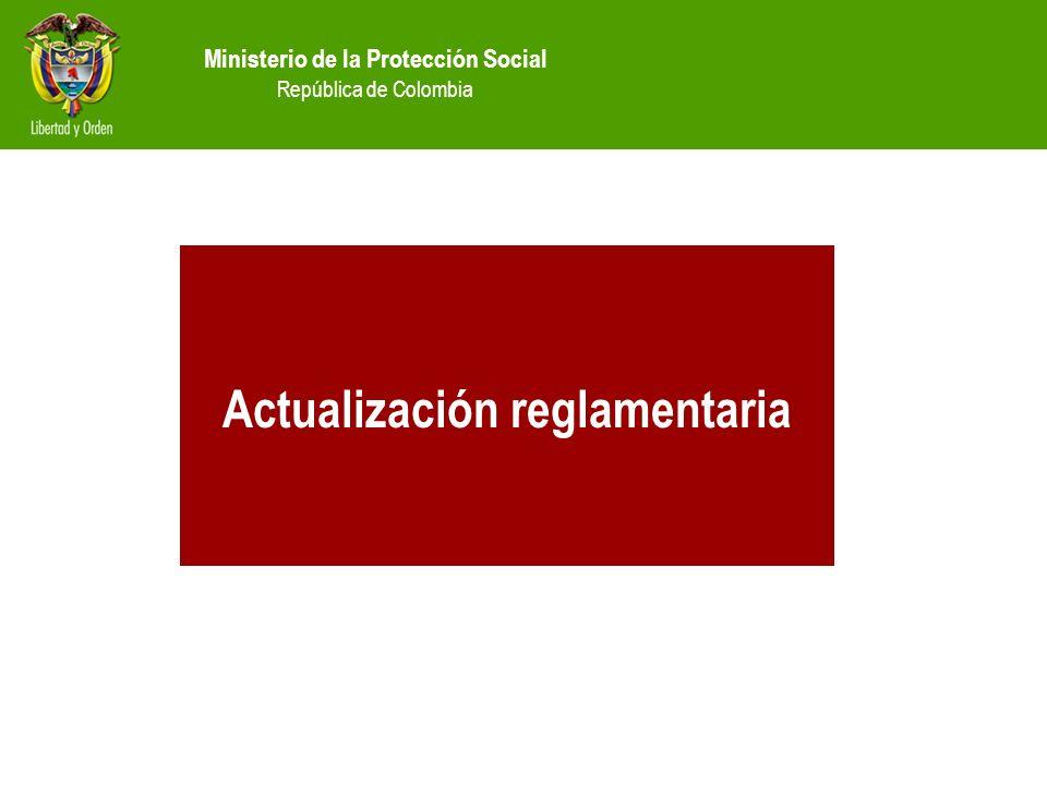 Actualización reglamentaria