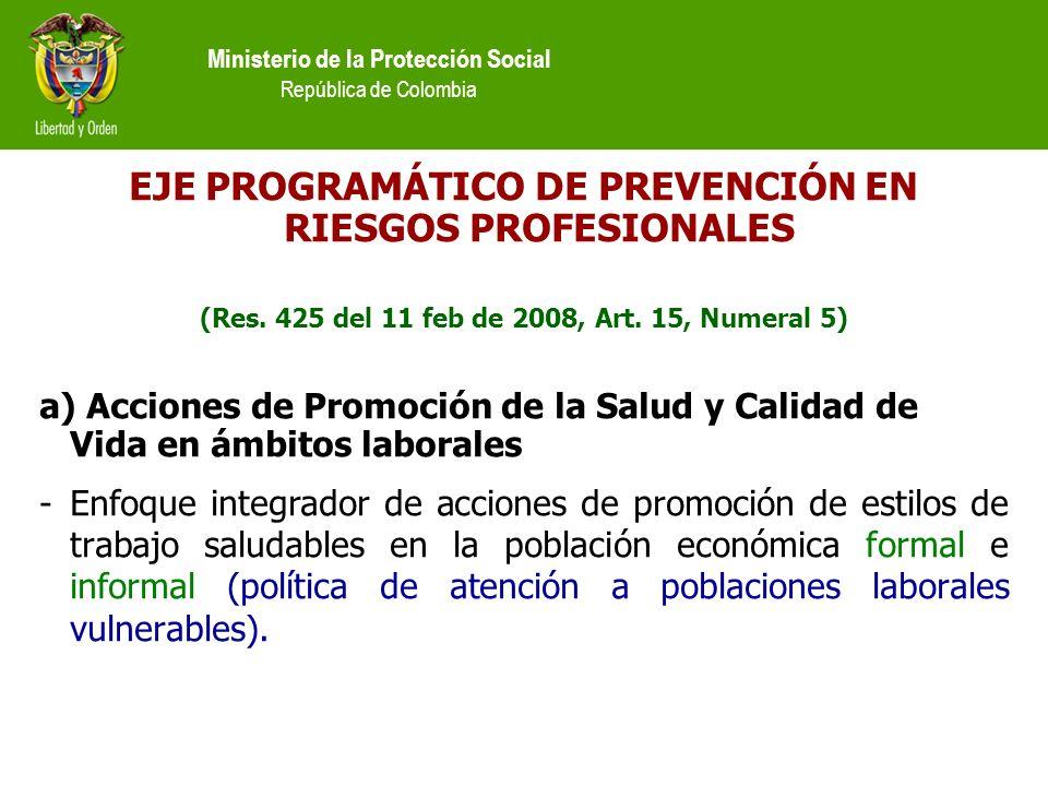 EJE PROGRAMÁTICO DE PREVENCIÓN EN RIESGOS PROFESIONALES