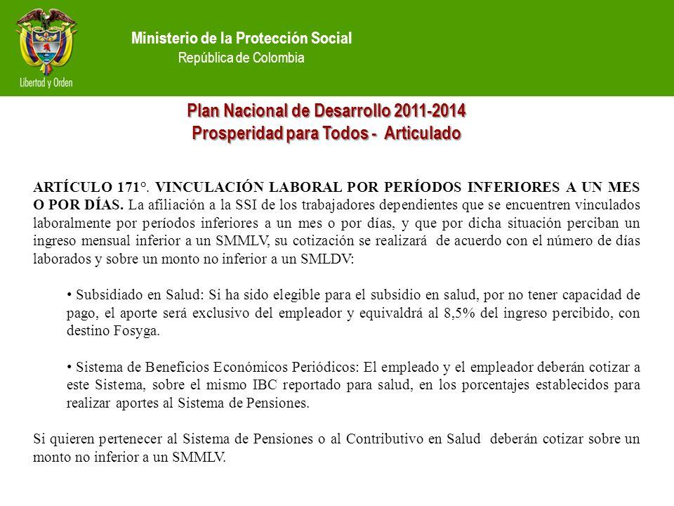 Plan Nacional de Desarrollo 2011-2014