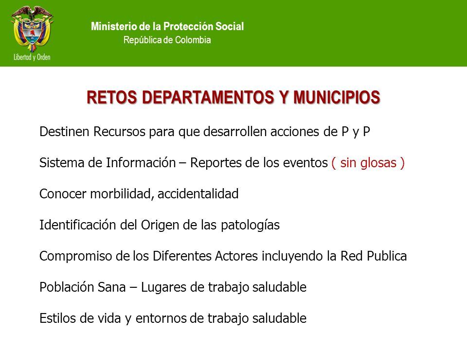 RETOS DEPARTAMENTOS Y MUNICIPIOS