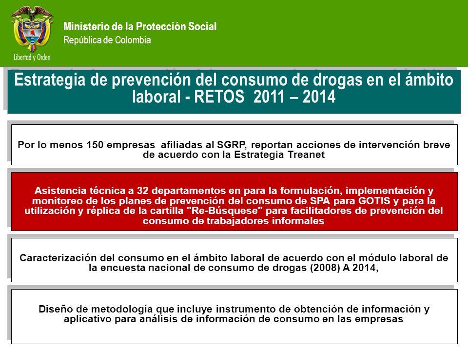 Estrategia de prevención del consumo de drogas en el ámbito laboral - RETOS 2011 – 2014