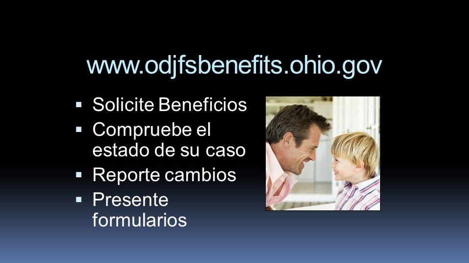 www.odjfsbenefits.ohio.gov Solicite Beneficios