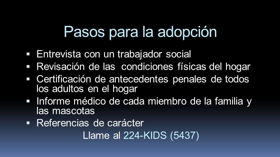 Pasos para la adopción Entrevista con un trabajador social