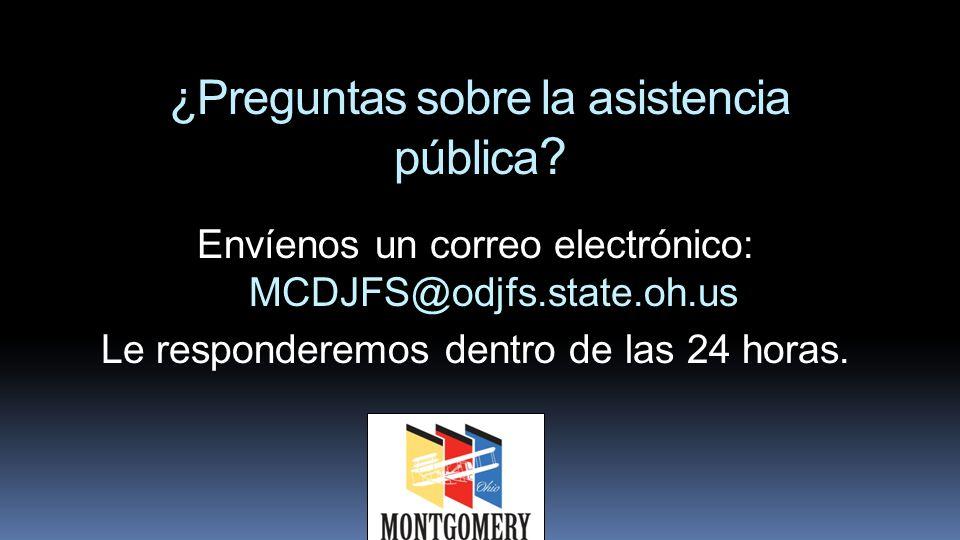 ¿Preguntas sobre la asistencia pública