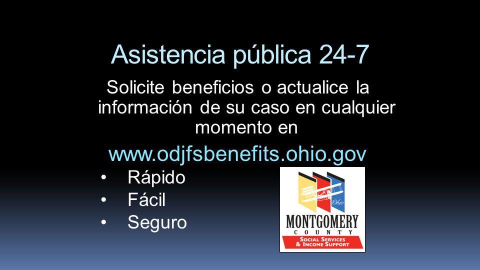 Asistencia pública 24-7 www.odjfsbenefits.ohio.gov