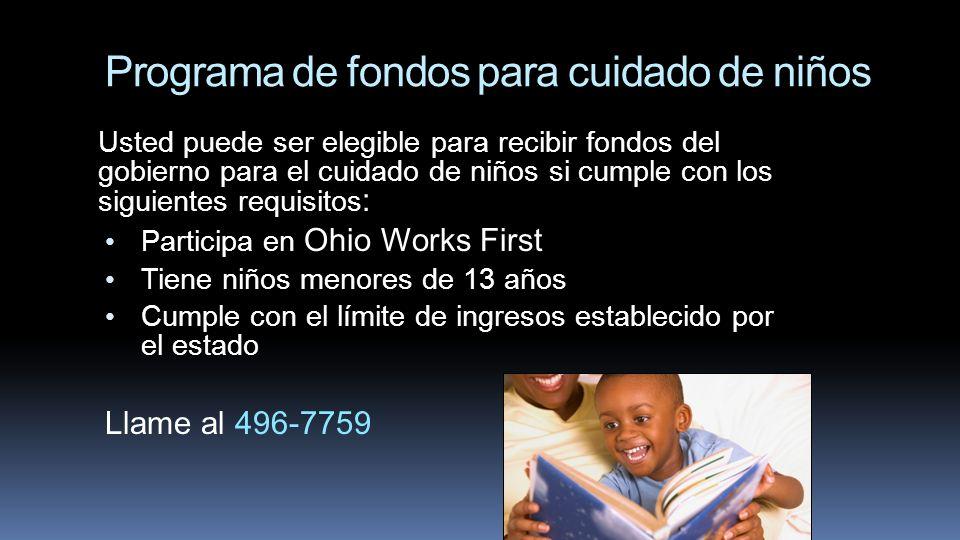 Programa de fondos para cuidado de niños