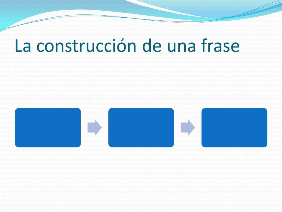 La construcción de una frase
