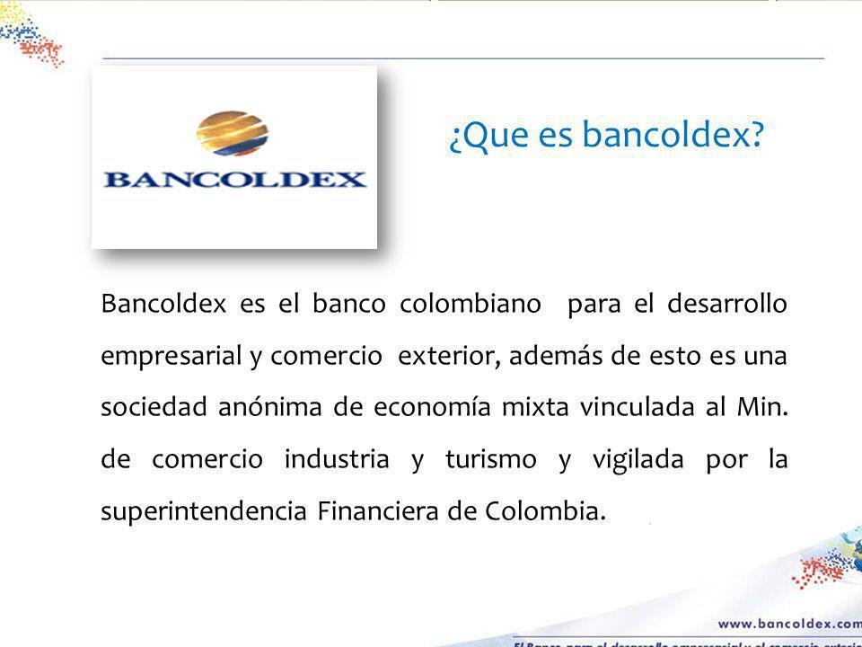 ¿Que es bancoldex