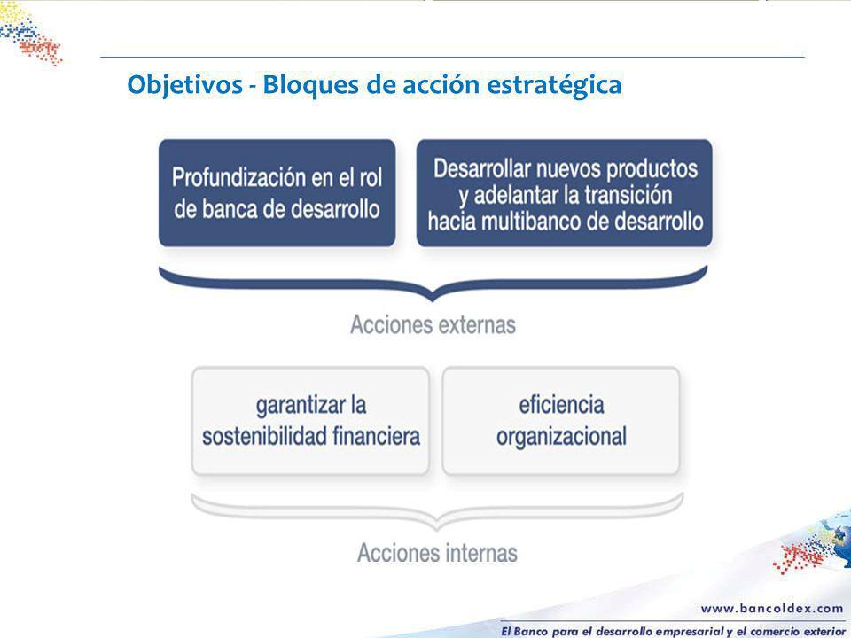Objetivos - Bloques de acción estratégica