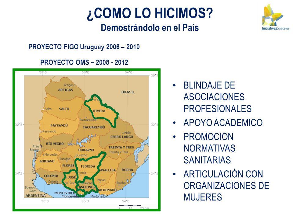 Demostrándolo en el País PROYECTO FIGO Uruguay 2006 – 2010