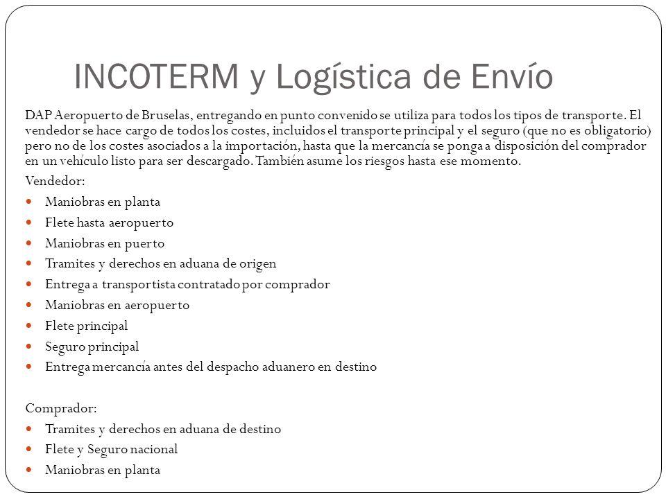 INCOTERM y Logística de Envío