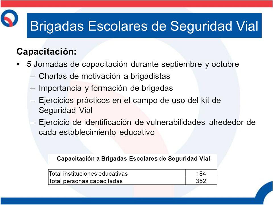 Capacitación a Brigadas Escolares de Seguridad Vial