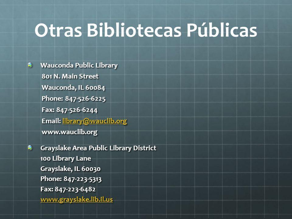 Otras Bibliotecas Públicas