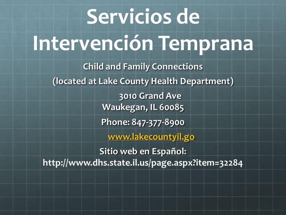 Servicios de Intervención Temprana