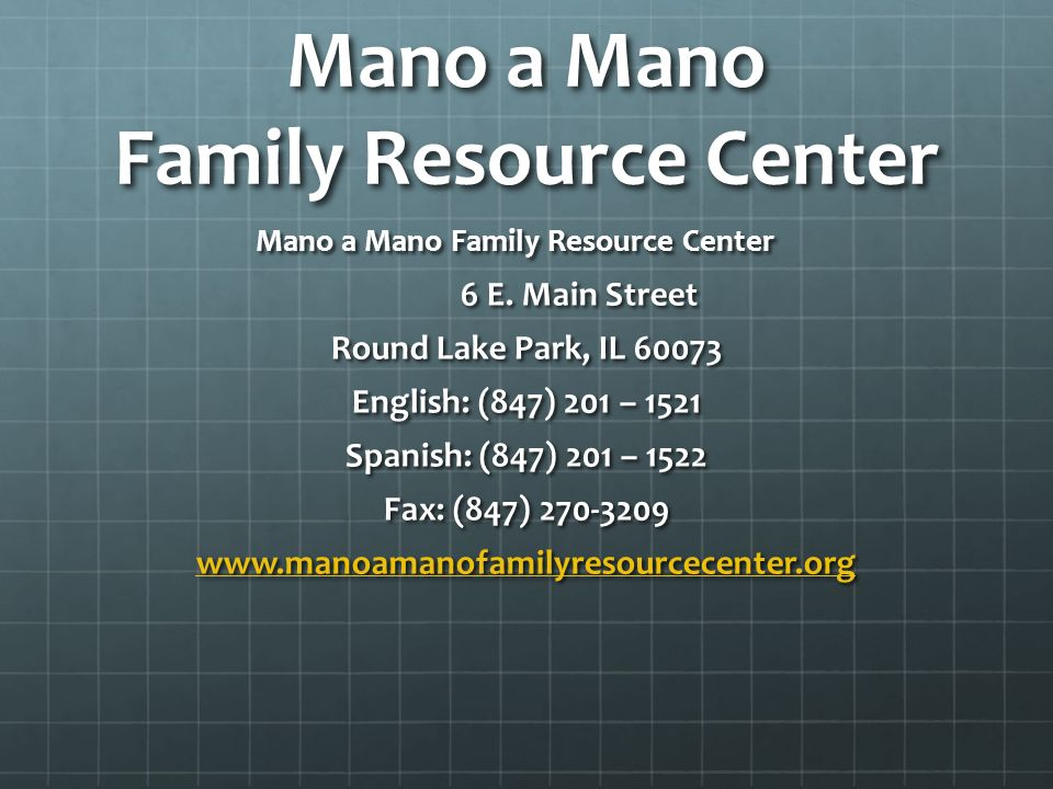 Mano a Mano Family Resource Center