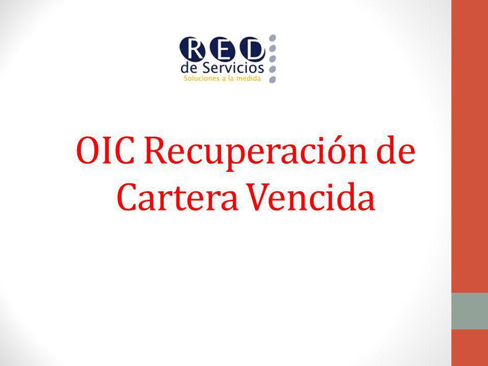 OIC Recuperación de Cartera Vencida