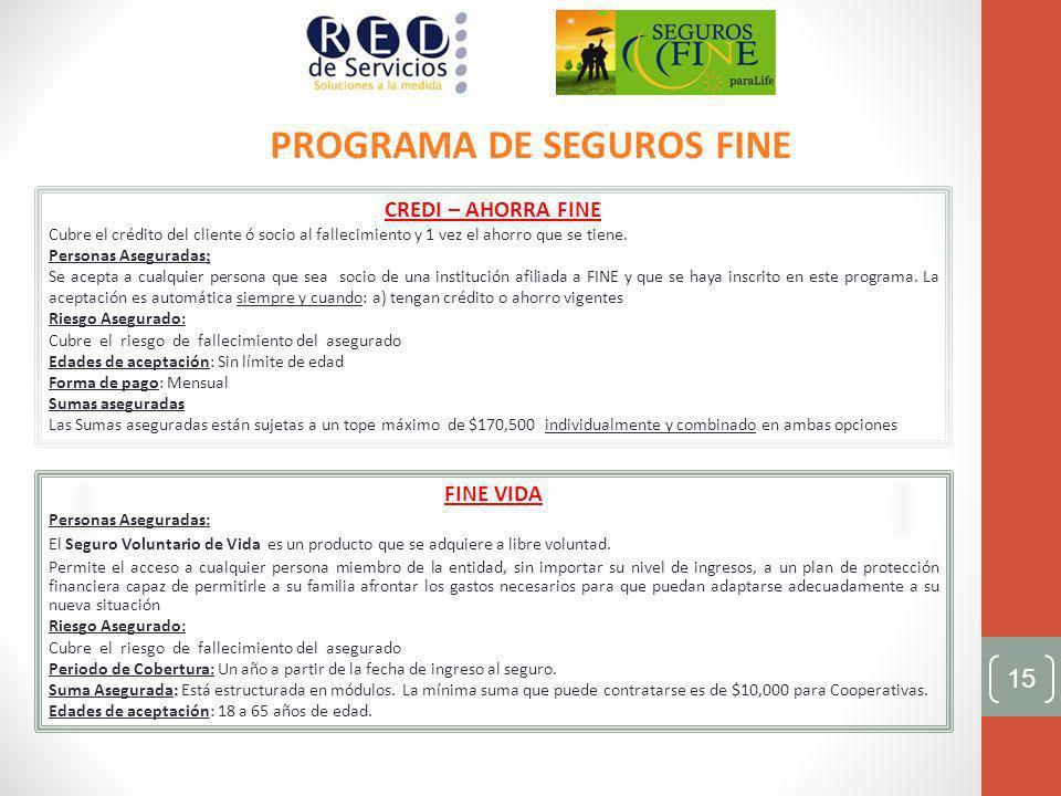 PROGRAMA DE SEGUROS FINE
